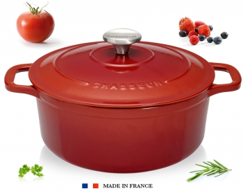 140x110 - Cocotte fonte Chasseur ronde